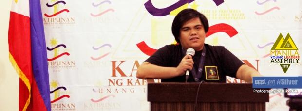 Cover page ng inyong lingkod sa Facebook. Habang nagtatalumpati sa Manila Young Leaders Assembly.