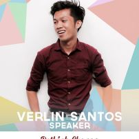 """Verlin Santos is a creative writer and poet who holds open mic sessions for his community in Bacoor. This year, he successfully self-published his own book entitled """"Ang Mga Tula ng Pilingerong Makata"""". He is currently a student taking AB Journalism in Cavite State University-Imus Campus. (Text from TEDxXavierSchool page)"""