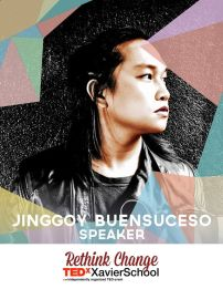 Jinggoy Buensuceso is a Visual Communications graduate from the University of the Philippines College of Fine Arts, and is now one of the emerging artists or sculptors in the Philippines. Furthermore, he has become a three-time Mugna awardee and a co-founder of Epoch - a movement of six international artists to provoke new thinking in Philippine furniture design. (Text from TEDxXavierSchool page)