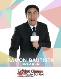 """Ramon Bautista is a television personality, a radio show host, and a film professor at the University of the Philippines. He has also starred in, directed and produced many films. Ramon Bautista is a true """"internet action star"""" who continues to deliver entertainment and laughter to those around him with singular comedic insight. (Text from TEDxXavierSchool page)"""