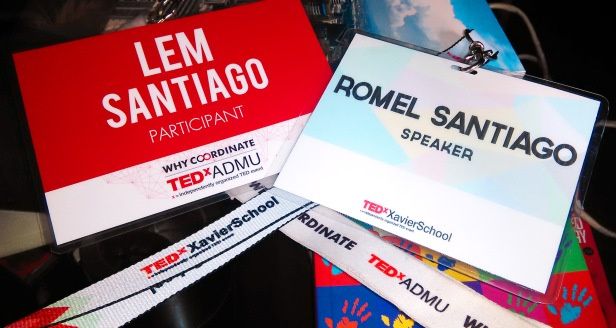 Name tag as a participant in 2015 and name tag as a speaker in 2016. How cool is that? Lol.